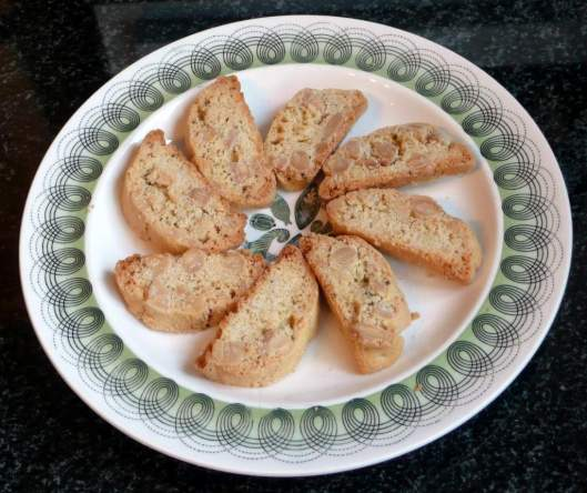 Plate of finished biscotti