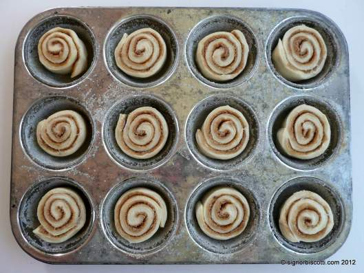 Cinnamon buns proving - from a recipe by Edd Kimber