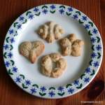 Pressed coconut and almond biscuits