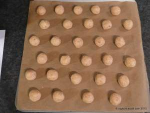 Hazelnut Baci di Dama ready for the oven