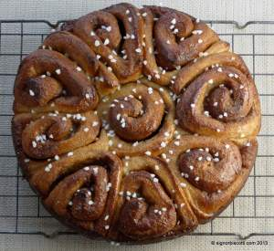 Cinnamon Bun Cake - Recipe adapted from Scandilicious Baking by Signe Johansen
