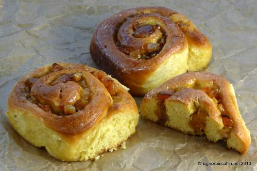Saffron Chelsea Buns with Cardamom, Apricot and Orange