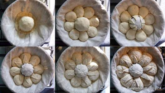 The stages of shaping a Couronne Bordelaise
