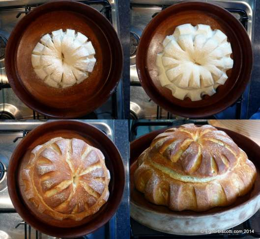 Various stages of making a Cottage Loaf