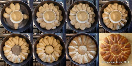 "The stages of forming the ""Persian Bowl"" loaf"