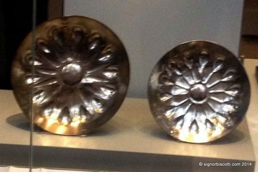 Silver dishes from Persian Empire 400-500 BC (?) in the British Museum